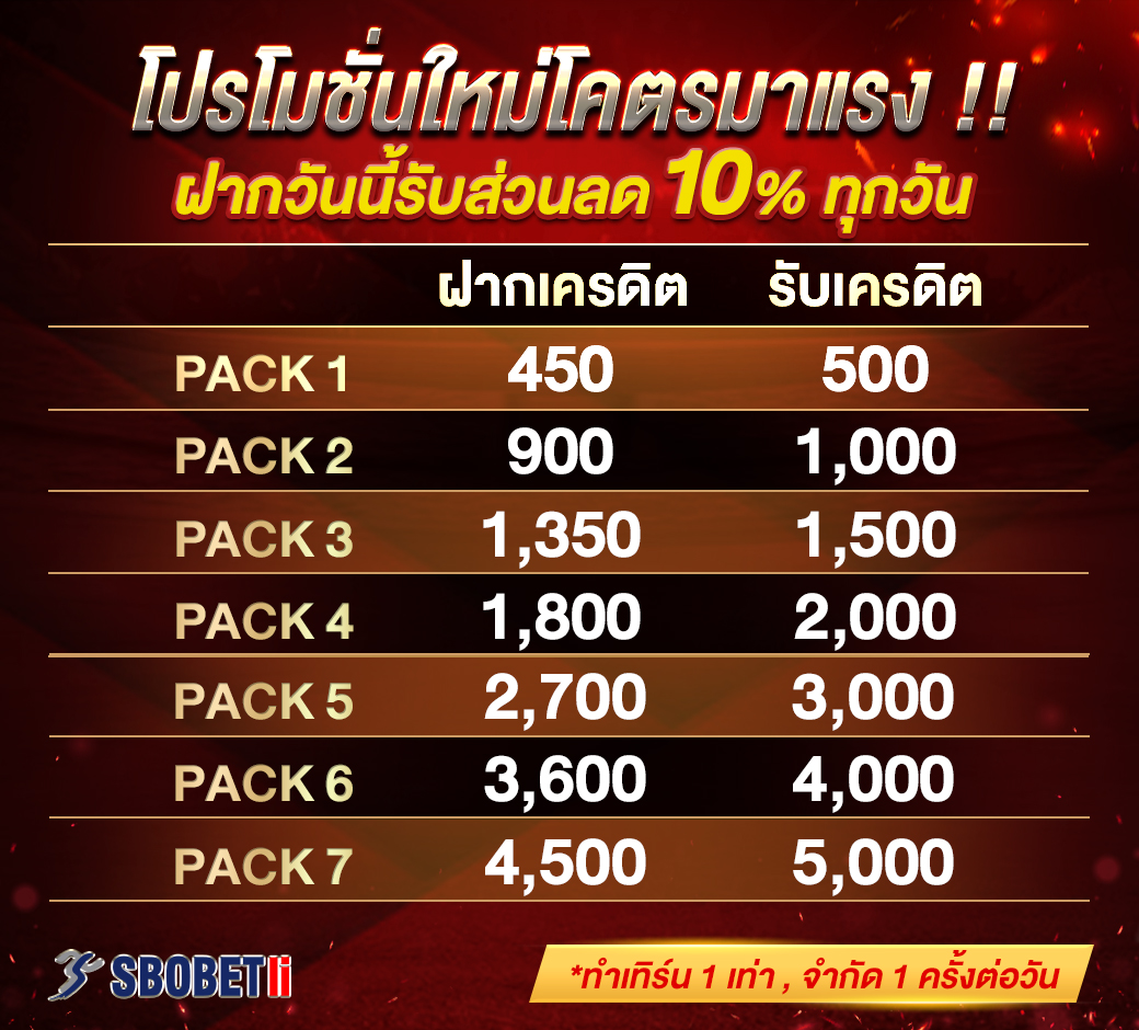 promotion sbo pack